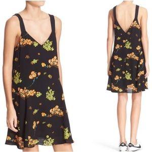 ALC Serena Floral Summer Flowy Silk Dress